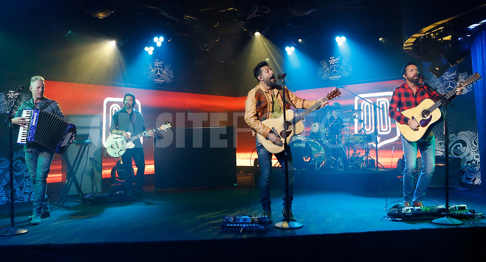 """JIMMY KIMMEL LIVE! - """"Jimmy Kimmel Live!"""" airs every weeknight at 11:35 p.m. EST and features a diverse lineup of guests that include celebrities, athletes, musical acts, comedians and human interest subjects, along with comedy bits and a house band. The guests for Tuesday, October 5 included Rami Malek (""""No Time To Die""""), Melissa Benoist (""""Haven's Secret""""), and musical guest Old Dominion. (ABC/Randy Holmes)<br /> OLD DOMINION"""
