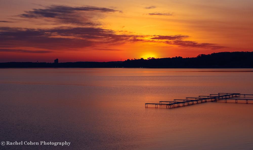 """Sugar Beach Sunrise""<br /> <br /> A wonderful and peaceful sunrise from Sugar Beach Resort on Grand Traverse Bay in Traverse City Michigan!"