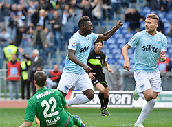March 31, 2018 - Rome, Lazio, Italy - Felipe Caicedo celebrates after score goal 2-2 during the Italian Serie A football match between S.S. Lazio and Benevento at the Olympic Stadium in Rome, on march 31, 2018. (Credit Image: © Silvia Lore/NurPhoto via ZUMA Press)