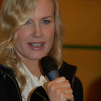 Actress Daryl Hannah attends a press conference as the guest star of the 12th Opera Ball.