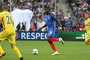 France Midfielder Paul Pogba during the Group A Euro 2016 match between France and Romania at the Stade de France, Saint-Denis, Paris, France on 10 June 2016. Photo by Phil Duncan.