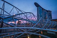 The Helix Bridge & Marina Bay Sands Resort