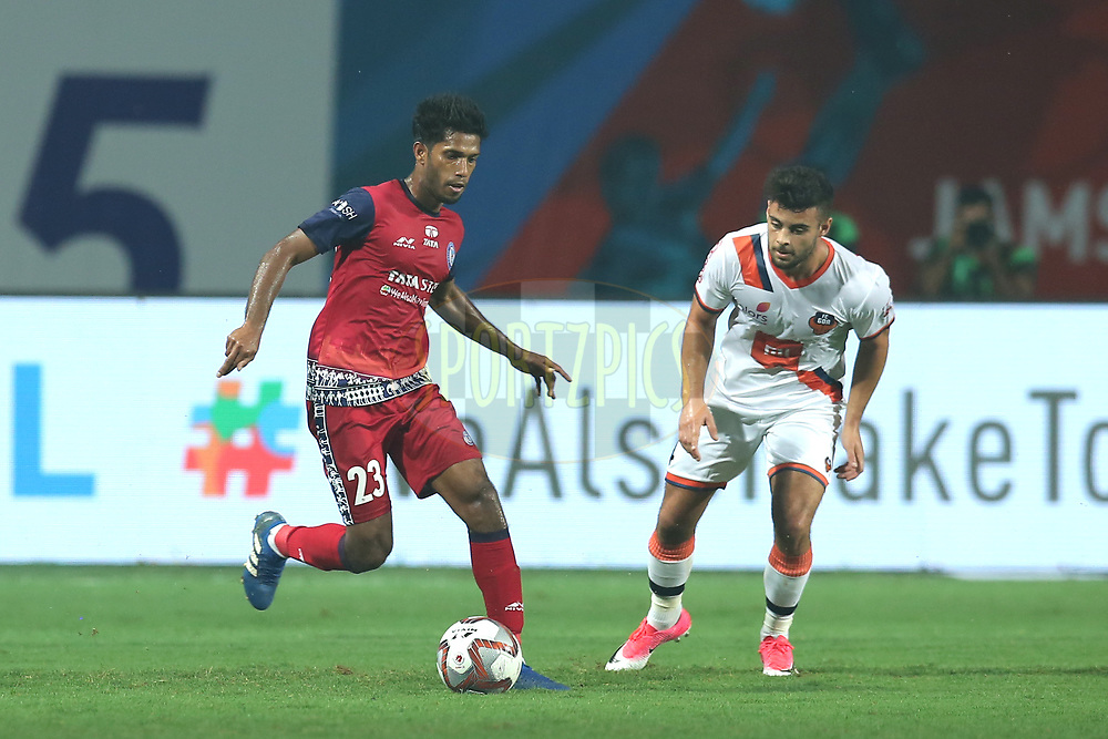 Michael Soosairaj of Jamshedpur FC in action during match 25 of the Hero Indian Super League 2018 ( ISL ) between Jamshedpur FC and FC Goa held at JRD Tata Sports Complex, Jamshedpur, India on the 1st November  2018<br /> <br /> Photo by: Deepak Malik /SPORTZPICS for ISL