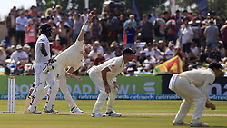 November 7, 2018 - Galle, Sri Lanka - England cricketer Ben Stokes (2L) delivers a ball amid close in fielders during the 2nd day's play of the first test cricket match between Sri Lanka and England at Galle International cricket stadium, Galle, Sri Lanka. 11-07-2018  (Credit Image: © Tharaka Basnayaka/NurPhoto via ZUMA Press)