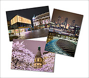 An assortment of urban photography greetings cards (examples shown here)