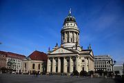 Germany Berlin Franzosischer Dom (French Cathedral) in the Gendarmenmarkt