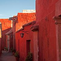 South America, Peru, Arequipa. Sevilla Street of Monasterio de Santa Catalina.