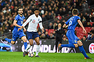 England Forward Marcus Rashford (21) in action during the Friendly match between England and Italy at Wembley Stadium, London, England on 27 March 2018. Picture by Stephen Wright.