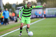 Forest Green Rovers Liam Noble(15) on the ball during the Vanarama National League match between Forest Green Rovers and Aldershot Town at the New Lawn, Forest Green, United Kingdom on 5 November 2016. Photo by Shane Healey.