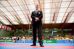 Primoz Debenak, Chairman of the EKF Referee Commission posing at Day Two of Karate 1 World Cup - Thermana Slovenia Lasko 2014 tournament, on March 16, 2014 in Arena Tri Lilije, Lasko, Slovenia. Photo by Vid Ponikvar / Sportida