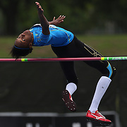 Levern Spencer, Saint Lucia, in action during the Women's High Jump event at the Diamond League Adidas Grand Prix at Icahn Stadium, Randall's Island, Manhattan, New York, USA. 25th May 2013. Photo Tim Clayton