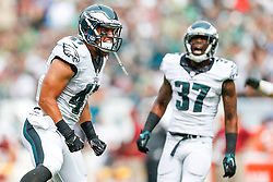 Philadelphia Eagles tight end Trey Burton #47 reacts after a play during the NFL Game between The Washington Redskins and The Philadelphia Eagles at Lincoln Financial Field in Philadelphia on Sunday September 21st 2014. The Eagles won 37-34. (Brian Garfinkel/Philadelphia Eagles)