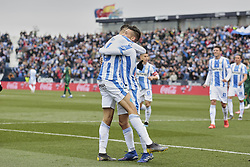 February 10, 2019 - Madrid, Madrid, Spain - CD Leganes's Youssef En-Nesyri celebrates goal during La Liga match between CD Leganes and Real Betis Balompie at Butarque Stadium in Madrid, Spain. February 10, 2019. (Credit Image: © A. Ware/NurPhoto via ZUMA Press)
