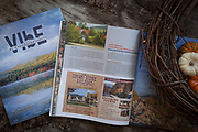 The final image in print in Mount Washington Valley Vibe Magazine. A photo shoot for an article on Professional photography tips for photographing fall foliage in New Hampshire and Maine.