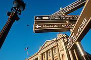 Street signposts point to various local landmarks near the Rue de Rivoli, in the 1st Arrondissement, on 26th April 2008, in Paris France. (Photo by Richard Baker / In Pictures via Getty Images)