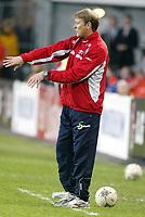 Fotball, 28. april 2004, Privatlandskamp, Norge-Russland 3-2, Åge Hareide, trener for Norge