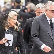 LUX/Luxemburg/20190504 - Funeral of HRH Grand Duke Jean/Uitvaart Groothertog Jean, Prince Laurent <br /> Princess Lea van Belgie