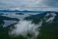 Auke Lake (foreground) & Auke Bay, Juneau