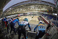#221 (VANDEPUT Nick) BEL at Round 2 of the 2019 UCI BMX Supercross World Cup in Manchester, Great Britain