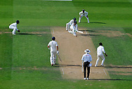 Keaton Jennings of England plays a sweep shot during day 3 of the 5th test match of the International Test Match 2018 match between England and India at the Oval, London, United Kingdom on 9 September 2018.