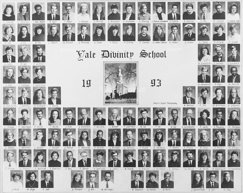 1993 Yale Divinity School Senior Portrait Class Group Photograph