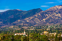 City view, Santa Barbara, California USA.