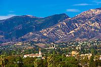 City view, Santa Barbara, California USA.