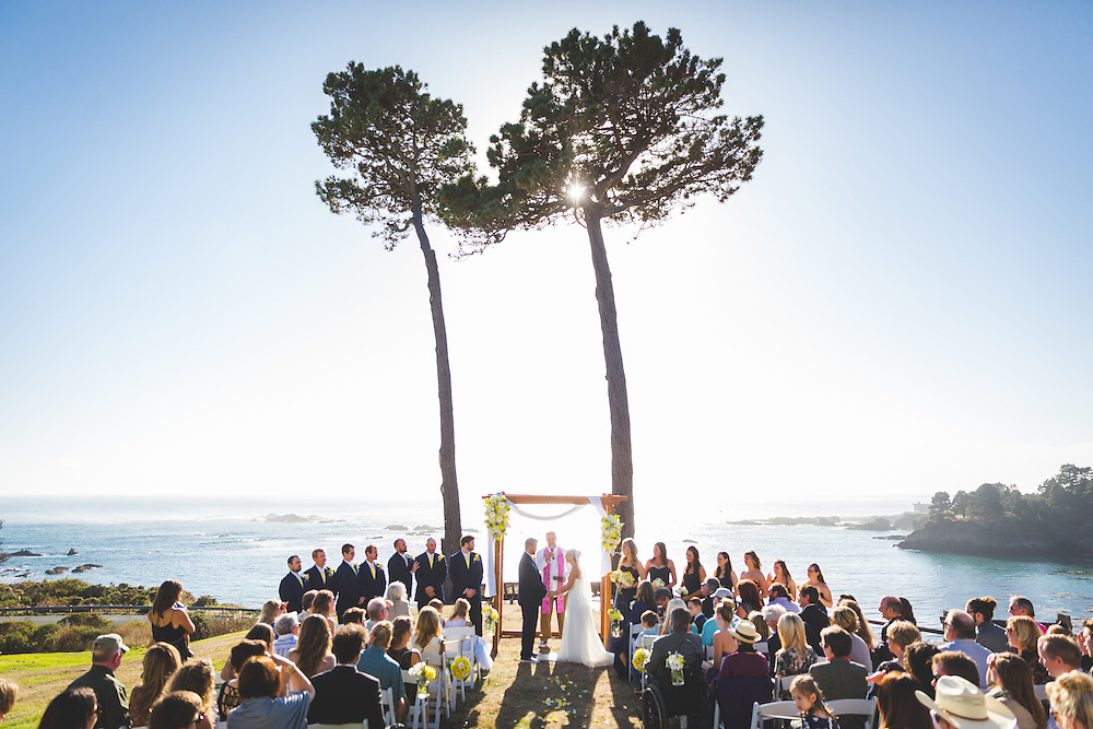 Jeff and Mona get married with an ocean front view at The Little River Inn on the Mendocino coast. Jeff and Mona's beautiful ocean view wedding at the Little River in on the Mendocino coast.