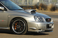 2004 MY05 Subaru Impreza WRX STI - Crystal Grey.Shot on location in Port Melbourne.7th October 2006.(C) Joel Strickland Photographics.Use information: This image is intended for Editorial use only (e.g. news or commentary, print or electronic). Any commercial or promotional use requires additional clearance.