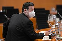 DEU, Deutschland, Germany, Berlin, 03.03.2021: Bundesarbeitsminister Hubertus Heil (SPD) vor Beginn der 132. Kabinettsitzung im Bundeskanzleramt.