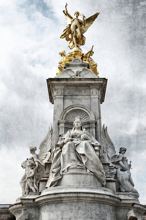 Queen Victoria monument in front of Buckingham Palace in London, England