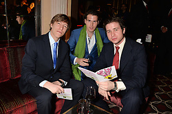 Left to right, PRINCE LOUIS OF LUXEMBOURG, ZADE AUDAT and NANDOR ZICHY at the Pig Pledge Evening at Club no41, 41 Conduit Street, London on 10th March 2014.