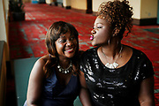 Nekita Waller shares a fun moment with her mother Edwina before a show in Hartford.