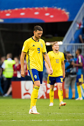 July 7, 2018 - Samara, Russia - 180707 Marcus Berg of Sweden looks dejected after the 0-2 goal during the FIFA World Cup quarter final match between Sweden and England on Jul 7, 2018 in Samara..Photo: Ludvig Thunman / BILDBYRÃ…N / kod LT / 92083 (Credit Image: © Ludvig Thunman/Bildbyran via ZUMA Press)