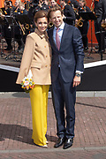 Koningsdag 2019 in Amersfoort / Kingsday 2019 in Amersfoort.<br /> <br /> Op de foto: Prins Floris en Prinses Aimee