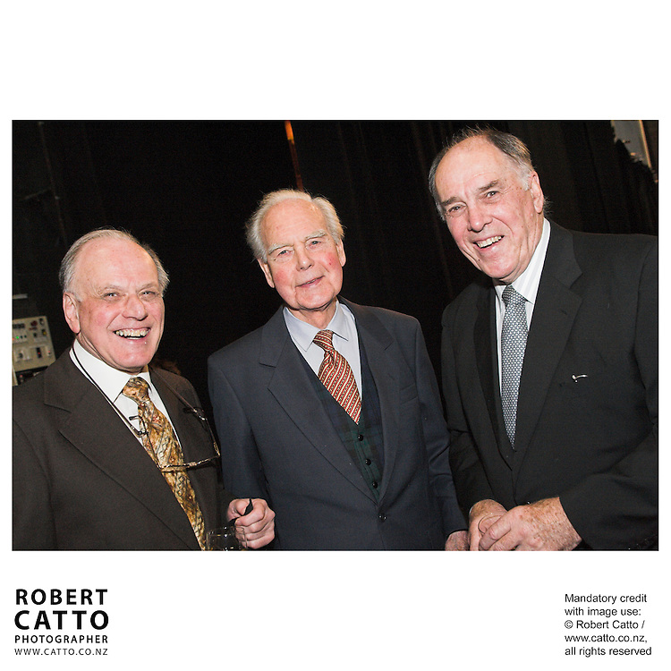 Jeremy Commons;Donald Munro;David Carson-Parker at the Arts Foundation of New Zealand New Generation Awards at the St James Theatre, Wellington, New Zealand.<br />
