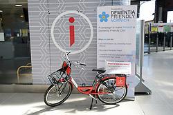 Bike hire scheme, Norwich station, UK