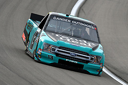 March 1, 2019 - Las Vegas, NV, U.S. - LAS VEGAS, NV - MARCH 01: Johnny Sauter (13) ThorSport Ford F-Series drives through turn two during qualifying for NASCAR Gander Outdoors Truck Series The Strat 200 on March 1, 2019, at Las Vegas Motor Speedway in Las Vegas, Nevada. (Photo by Michael Allio/Icon Sportswire) (Credit Image: © Michael Allio/Icon SMI via ZUMA Press)