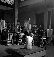 Artist class, Euston Road School of Art, 1950s Euston School of Drawing and Painting in London between 1937 and 1939
