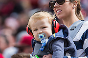 A young Dallas Cowboys fan watches as they take on the San Francisco 49ers at Levis Stadium in Santa Clara, Calif., on October 2, 2016. (Stan Olszewski/Special to S.F. Examiner)
