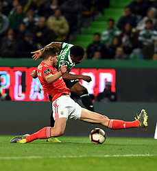 LISBON, Feb. 4, 2019  Diaby (R) of Sporting vies with Ruben Dias of Benfica during the Portuguese League soccer match between SL Benfica and Sporting CP in Lisbon, Portugal, Feb. 3, 2019. Benfica won 4-2. (Credit Image: © Xinhua via ZUMA Wire)