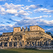 Chichen Itza # 10 Warriors temple at Chichen Itza. Yucatan, Mexico.