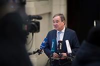 DEU, Deutschland, Germany, Berlin, 05.03.2021: Armin Laschet, Ministerpräsident von Nordrhein-Westfalen und CDU-Bundesvorsitzender, bei einem Statement im Bundesrat.