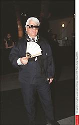 Karl Lagerfeld arriving at the Laureus Awards in Monaco, on May 24, 2000. Photo by Nicolas Khayat/ABACA.