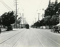 1922 Streetcar on Santa Monica Blvd.