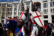 St. George's Day Parade, London. This has not taken place in the city since 1585, so is a tradition revived in 2010. St George on horseback.