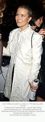 KOO STARK at a party in London on 17th February 2003.PHI 362