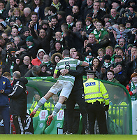 01/03/15 SCOTTISH PREMIERSHIP<br /> CELTIC v ABERDEEN<br /> CELTIC PARK - GLASGOW<br /> Celtic captain Scott Brown (8) celebrates with manager Ronny Deila