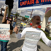 Protestors for and against Proposition 8, the proposition to ban gay marriage in California, rally on Ventura Blvd in Woodland Hills, California on election day, November 4, 2008.