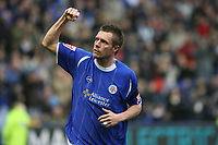 Photo: Pete Lorence.<br />Leicester City v Coventry City. Coca Cola Championship. 17/02/2007.<br />Geoff Horsfield celebrates scoring the first goal of the match.